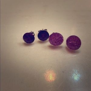 2 pairs of boutique local stud earrings! New! NWOT